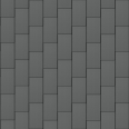 flat-lock tile facade (600 mm x 1500 mm, vertical, prepatina graphite-grey)