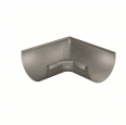 gutter corner half-round (size 333, inside 90°, deep-drawn, prepatina graphite-grey)