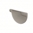 gutter stopend half-round right (size 333, prepatina graphite-grey)