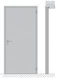 Single swing door EI1 30