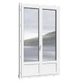 porte-fenêtre 2 vantaux PVC avec ou sans soubassement