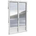 porte-fenêtre 2 vantaux ALU, avec ou sans soubassement