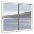 fenêtre alu coulissante en 2 vantaux
