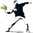 Banksy Flower Throw