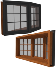 Ultra Window Casement 3 Wide X Series Bay 30Deg
