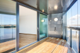 Glass sliding door CLEAR type G