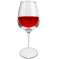 red wine glass bordeaux