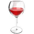 red wine glass burgundy
