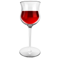 red wine glass rose