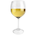 white wine glass chardonnay
