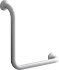 90° angled grab bar, 400 x 400 mm, white epoxy-coated aluminium , tube ø 30 mm