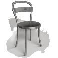chaise acier brosse