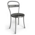 chaise acier brosse 1