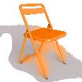 chaise acier orange