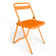 chaise acier orange 1