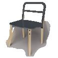 chaise hetre et anthracite