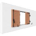 fenêtre bois deux vantaux remplissage lame contrevent