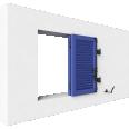 fenêtre bois deux vantaux repliables remplissage lame americaine