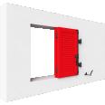 fenêtre bois deux vantaux repliables remplissage lame contrevent