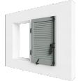 fenêtre bois un vantail remplissage lame contrevent