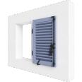 fenêtre bois un vantail remplissage lame francaise