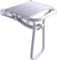 Foldaway shower seat, 380 x 355 x 500 mm, White polypropylene seat and white epoxy-coated base, tube Ø 25 mm, height 500 mm