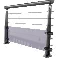 garde corps cables et verre a plat sabot integre intermediaire61