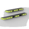 grise etagere rail a tiroirs