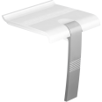 Shower seat, White & Mat Grey