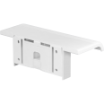 Shower shelf with wall-mounted support, White