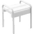 Shower stool, White