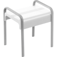 shower stool, white and mat grey
