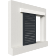 shutters alu inclined blades 1 leaf