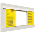 Shutters Alu Inclined blades 2 leaves simple