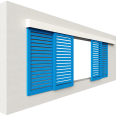 shutters alu inclined blades 4 leaves