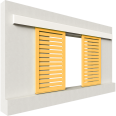 shutters alu straight blades 2 leaves simple