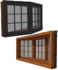 Window Casement 3 Wide X Series Bay 30Deg