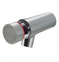 66105 presto wall mounted tap neo stainless steel hot 65mm 7sec