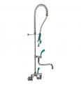 70559 PRESTO Maestro Pre Rinse unit comple with lever handle miwer wall mounted (2 holes) LVL0