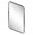 71900 presto stainless steel mirror - 500x400mm lvl0