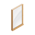 fixed window (wood)