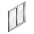 sliding metal window