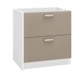meuble bas deux tiroirs 80 cm