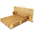 Palette Wood Bed C