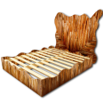 Palette Wood Big Bed