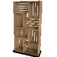 Palette Wood Wall Shelf 6