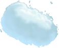 image - entourage - clouds large 1 blue stylized