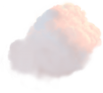 Clouds Large 5 Pink Stylized