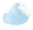 image - entourage - clouds large 6 blue stylized