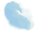 image - entourage - clouds large 8 blue stylized